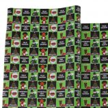 Single Roll – Green and Black Melanin Moments Holiday Design with Spanish Text