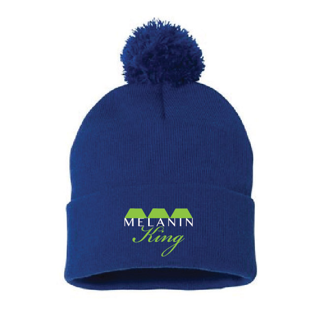 Melanin King Beanie with Pom