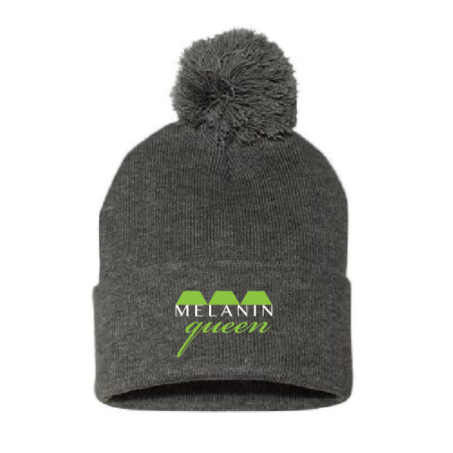 Melanin Queen Beanie with Pom
