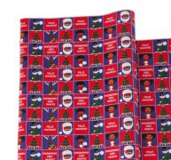 Single Roll – Red and Blue Melanin Moments Holiday Design with Spanish Text