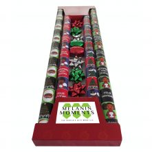 Gift Wrap Set– Red and Blue and Green and Black Melanin Moments Holiday Design with Spanish Text
