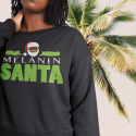 Melanin Santa Crew Sweat Shirt
